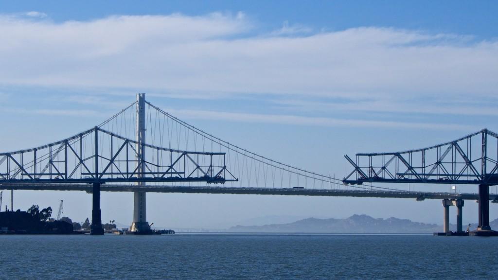two bay bridges, one broken